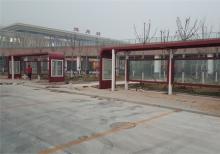 客户案例-山东滨州公交候车亭安装现场