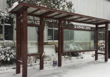 客户案例-不锈钢候车亭安装效果
